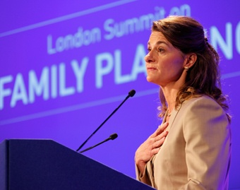 Melinda Gates at the Family Planning Summit